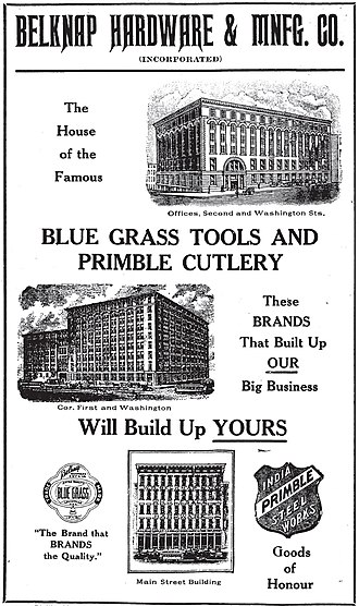 Belknap Hardware and Manufacturing Company - A 1909 ad for the Belknap Hardware and Manufacturing Company