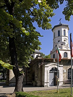 Bell-tower of Trinity Church, Ruse.jpg
