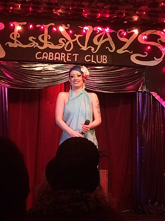 Bella Blue - Bella Blue performing in the Dirty Dime Peepshow in 2017