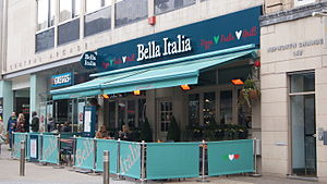 Bella Italia - Bella Italia on Briggate in Leeds.