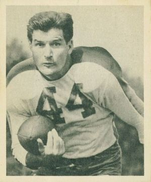 Ben Kish - Kish on a 1948 Bowman football card