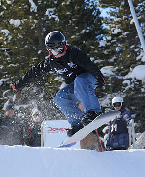 Para-snowboarding classification - Image: Ben Tudhope 2 Copper Mountain cropped
