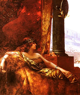 Theodora (6th century) - The Empress Theodora at the Colosseum, oil painting by Jean-Joseph Benjamin-Constant