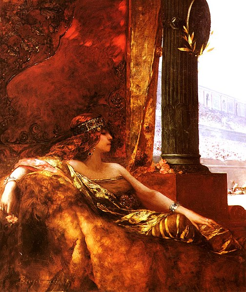 L'imperatrice Teodora, rappresentata su un quadro di Benjamin-Constant, Jean-Joseph, nel XIX secolo.