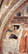 Benozzo Gozzoli - Conversion of the Heretic (scene 15, east wall) - WGA10309.jpg