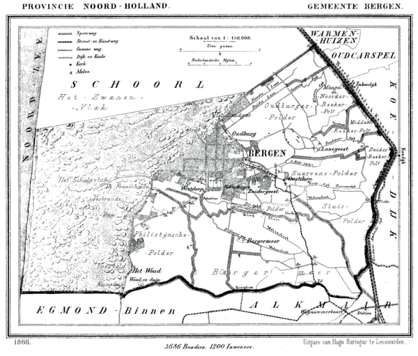 Map of the battlefield near Bergen Bergen NH 1866.png