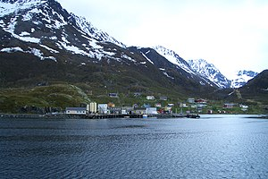 Loppa - View of the village of Bergsfjord