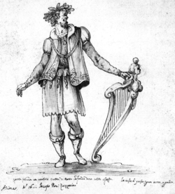 Bernardo Buontalenti - Jacopo Peri as Arion in the 5th intermedio of La Pellegrina.png