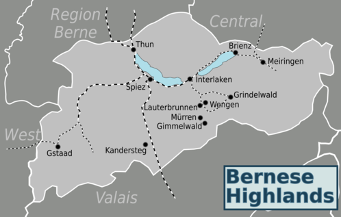 Map of Bernese Highlands