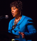 Bernice King at LBJ Presidential Library and Mueseum, 2014.png