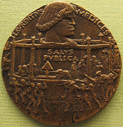 Bertoldo di giovanni, medaglia della congiura dei pazzi (lorenzo), 1478.JPG