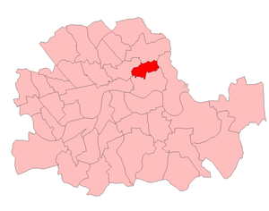 Bethnal Green (UK Parliament constituency) - Bethnal Green in the County of London 1950-55