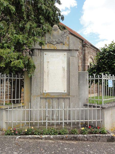 Bezange-la-Grande (M-et-M) monument aux morts près de l'église