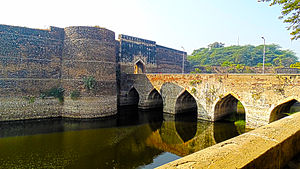 Bharatpur, Rajasthan - A view of the Bharatpur fort from outside