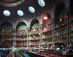 Овальный зал в здании библиотеки на улице Ришелье[fr], архитектор Жан-Луи Паскаль[fr]