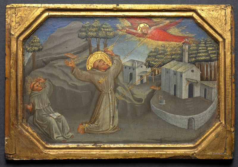 File:Bicci di Lorenzo - St. Francis of Assisi Receiving the Stigmata - 1916.787 - Cleveland Museum of Art.tiff