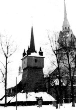 Komorowice, Bielsko-Biała - Churches, old and new, in Komorowice Krakowskie (1930s)
