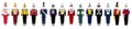 Big Ten Conference Marching Band Uniforms West-East.png
