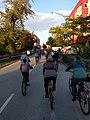 Bike riders on the Second Critical Mass in Zrenjanin, Vojvodina Serbia.jpg