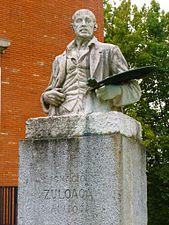 Bilbao - Monumento al pintor Ignacio Zuloaga junto al Museo de Bellas Artes.jpg
