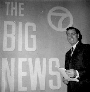 Bill Owen (writer and announcer) - Bill as Ch7 staff announcer c. late 1950s.