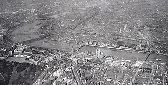 Westminster - Bird's-eye view of Westminster in 1909