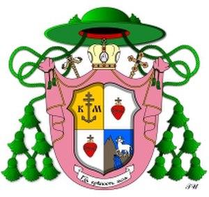 Crown (heraldry) - Image: Biskup Ljavinec Ivan Co A
