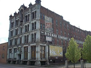 English: The Bissman Building In Mansfield Ohio