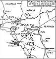 Bitwa o przedmoście warszawskie - położenie jednostek z 13 na 14.VIII.1920.jpg