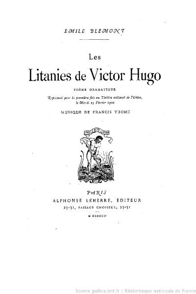 File:Blémont - Les Litanies de Victor Hugo, 1902.djvu