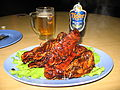 Black pepper crab and Tiger beer.JPG