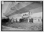 Blimp, Zeppelin No. 3, on ground, spectators LCCN2014684180.jpg