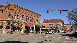 Main Avenue Historic District (Durango, Colorado) - Image: Blue Winter Skies Hug the Durango Skyline