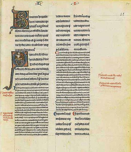 The Long Commentary on Aristotle's On the Soul, French Manuscript, third quarter of the 13th century Bnf lat16151 f22.jpg