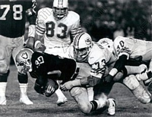 History of the Miami Dolphins - The Dolphins playing against the Oakland Raiders in 1979.
