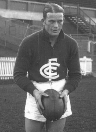 "Carlton Football Club - Bob Chitty captained Carlton to victory in the 1945 ""Bloodbath"" Grand Final."