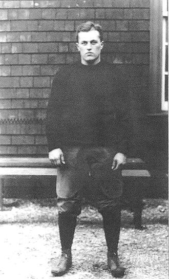 Robert Treat Paine Storer - Bob Storer while playing for Harvard, c. 1913