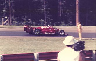 Truesports - Bobby Rahal celebrates victory for Truesports at Mid-Ohio in 1985.