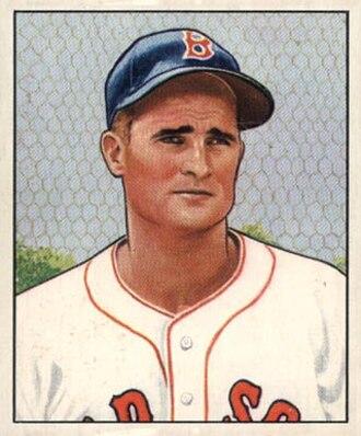 1986 Baseball Hall of Fame balloting - Image: Bobby Doerr 1950 Bowman