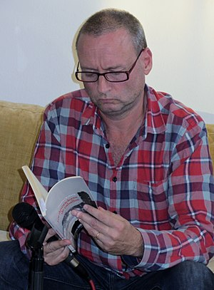 Thomas Boberg - Boberg at the Santiago International Book Fair, 2015