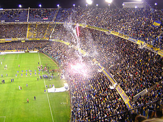 1968 Intercontinental Cup - La Bombonera, home of Boca Juniors and the venue for the first leg.