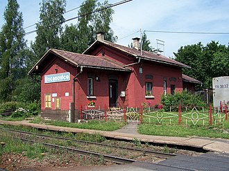 Bocanovice - Railway station in the village