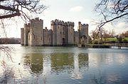 Bodiam Castle in der Grafschaft East Sussex