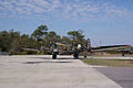 Boeing B-17G-85-DL Flying Fortress Nine-O-Nine Landing Taxi 27 CFatKAM 09Feb2011 (14983921645).jpg