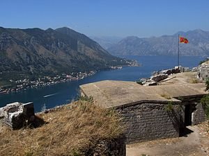 Fortifications of Kotor - Bay of Kotor - view from St. John castle
