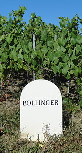 Marker For One Of Bollinger S Estate Vineyards