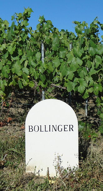 Bollinger - Marker for one of Bollinger's estate vineyards.