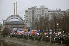 Thousands of protestors gathered in Moscow yesterday Image: Leonid Faerberg.