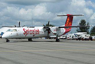 SpiceJet - Image: Bombardier Dash 8 Q402Next Gen, Spice Jet JP7322500