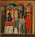 Bonaventura Berlinghieri, San Francesco e storie della sua vita, 1235, 10 guarigione di un'indemoniata.jpg